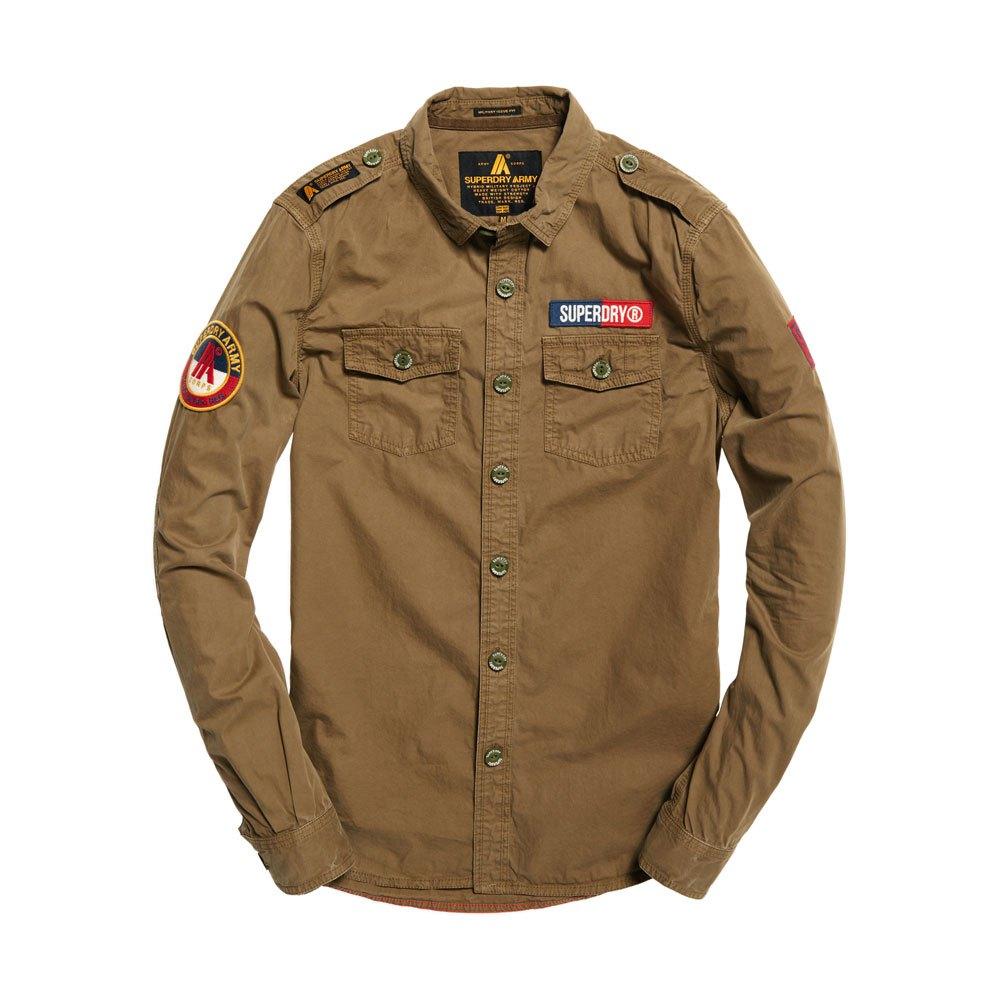 d901d6d434 Superdry Ultra Light Army Corps L S Shirt Marrón