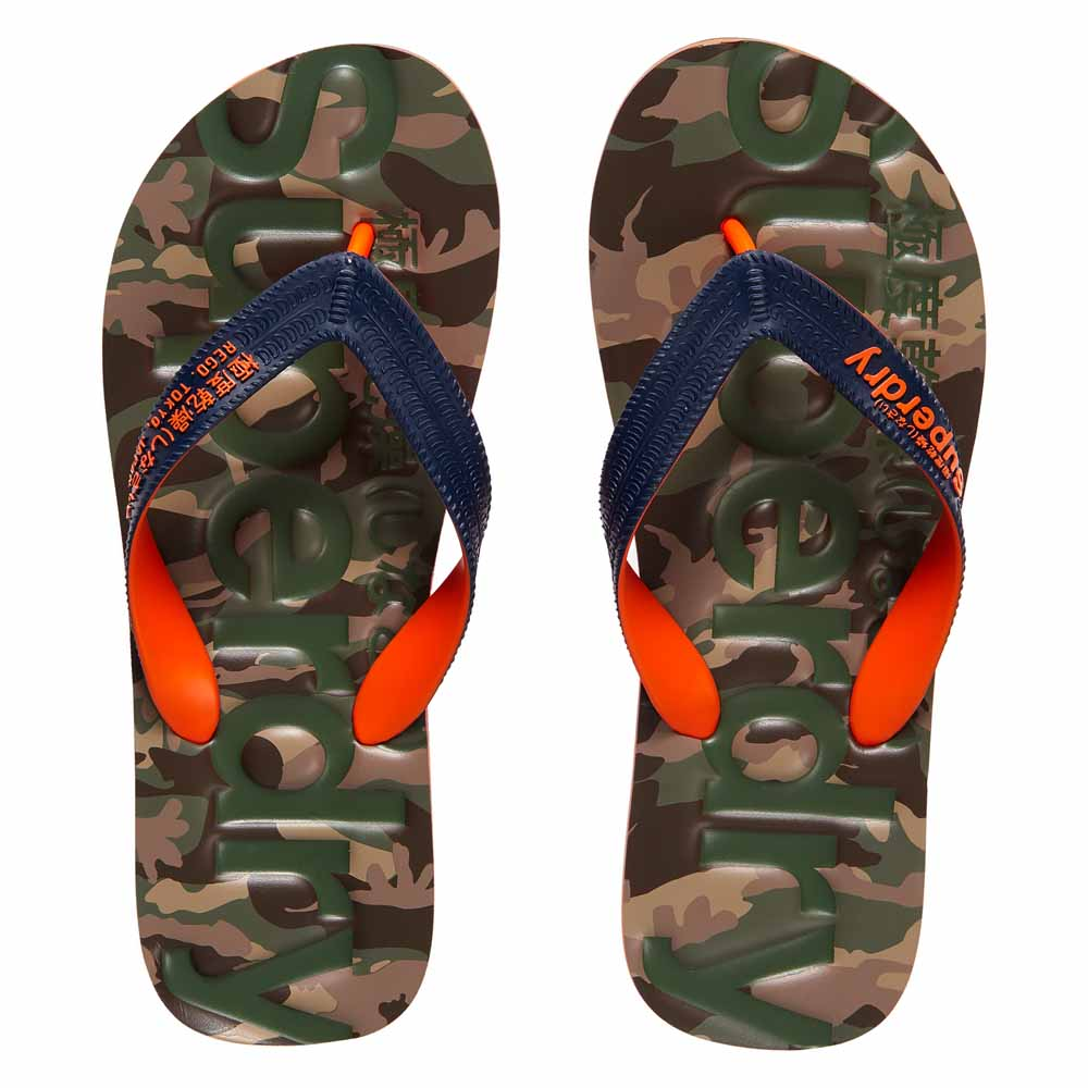 5f24ed998bca Superdry Classic Camo Flip Flop Blue buy and offers on Dressinn