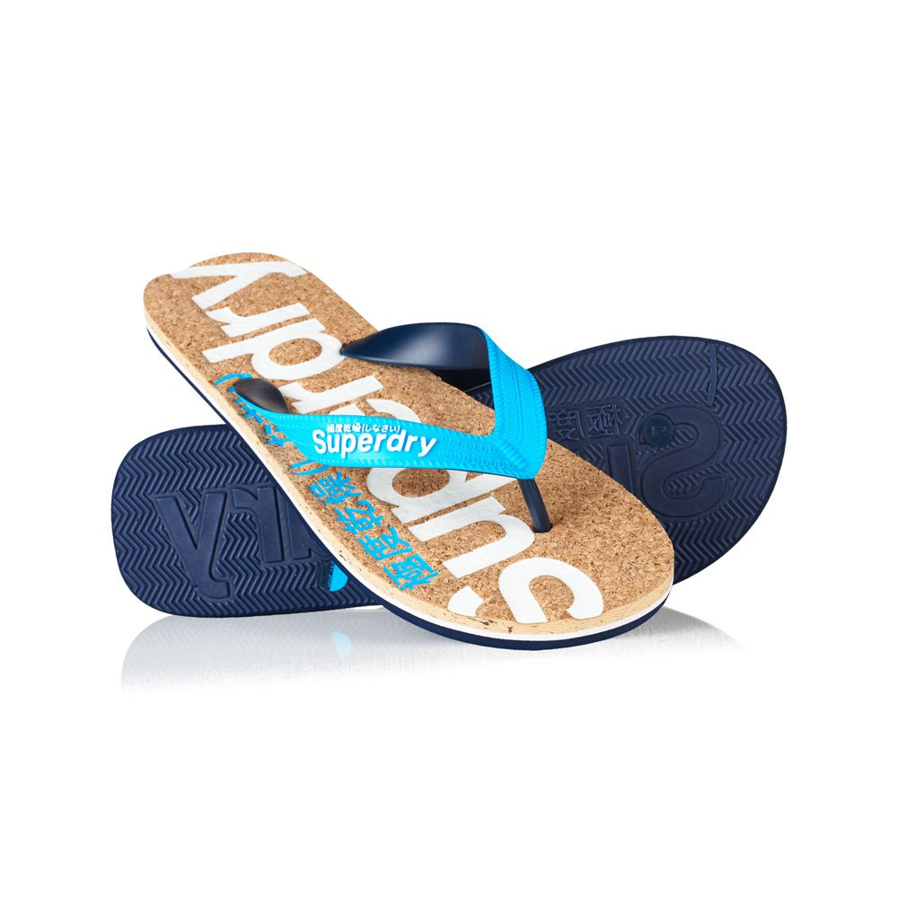 b113f07880c4 Superdry Cork Colour Pop Flip Flop Blue