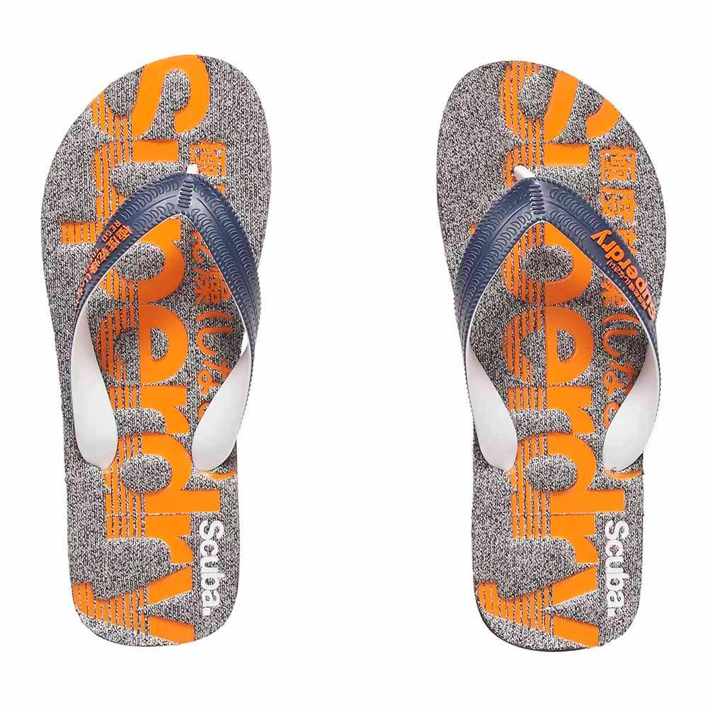 88d2f0d683e52 Superdry Scuba Marl Flip Flop Blue buy and offers on Dressinn