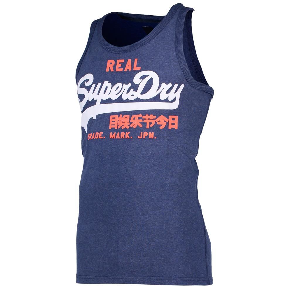 67ad01ac1 Superdry Vintage Logo Duo Vest Blue buy and offers on Dressinn