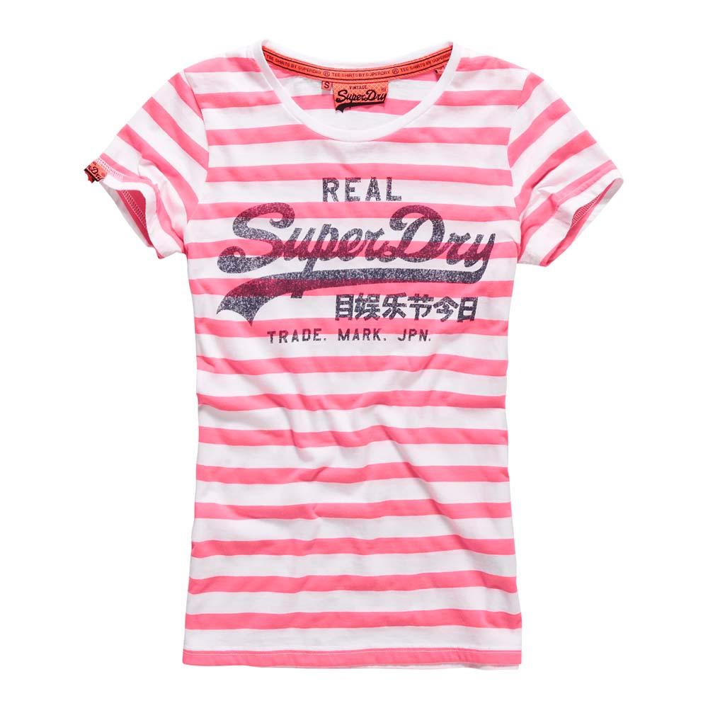 c6d1e40287 Superdry Vintage Logo Stripe Tee Pink buy and offers on Dressinn