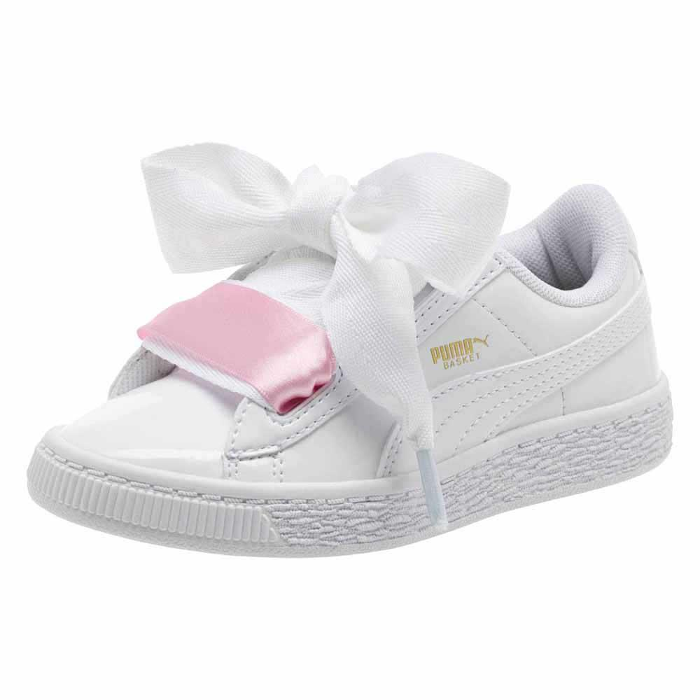 puma basket heart patent colors