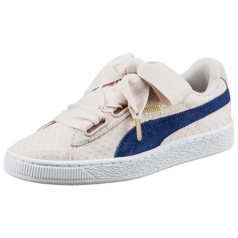 fb7f4c6227a5b4 Puma Basket Heart Denim White buy and offers on Dressinn
