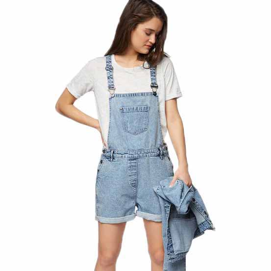 3951609aae Bench Dungaree Short Bleach Wash Blue buy and offers on Dressinn
