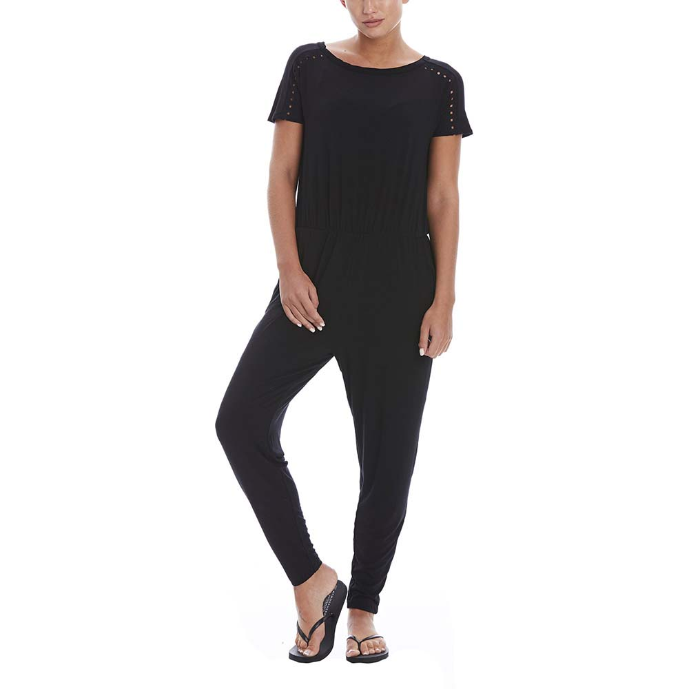 c5a5e137c1f Bench Grown On Sleeve Long Sweat Jumpsuit Black