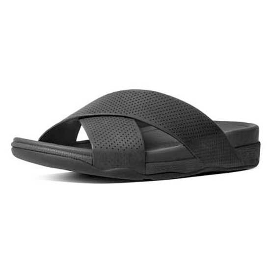 Fitflop Surfer Perf Leather Slide kjøp og tilbud, Dressinn
