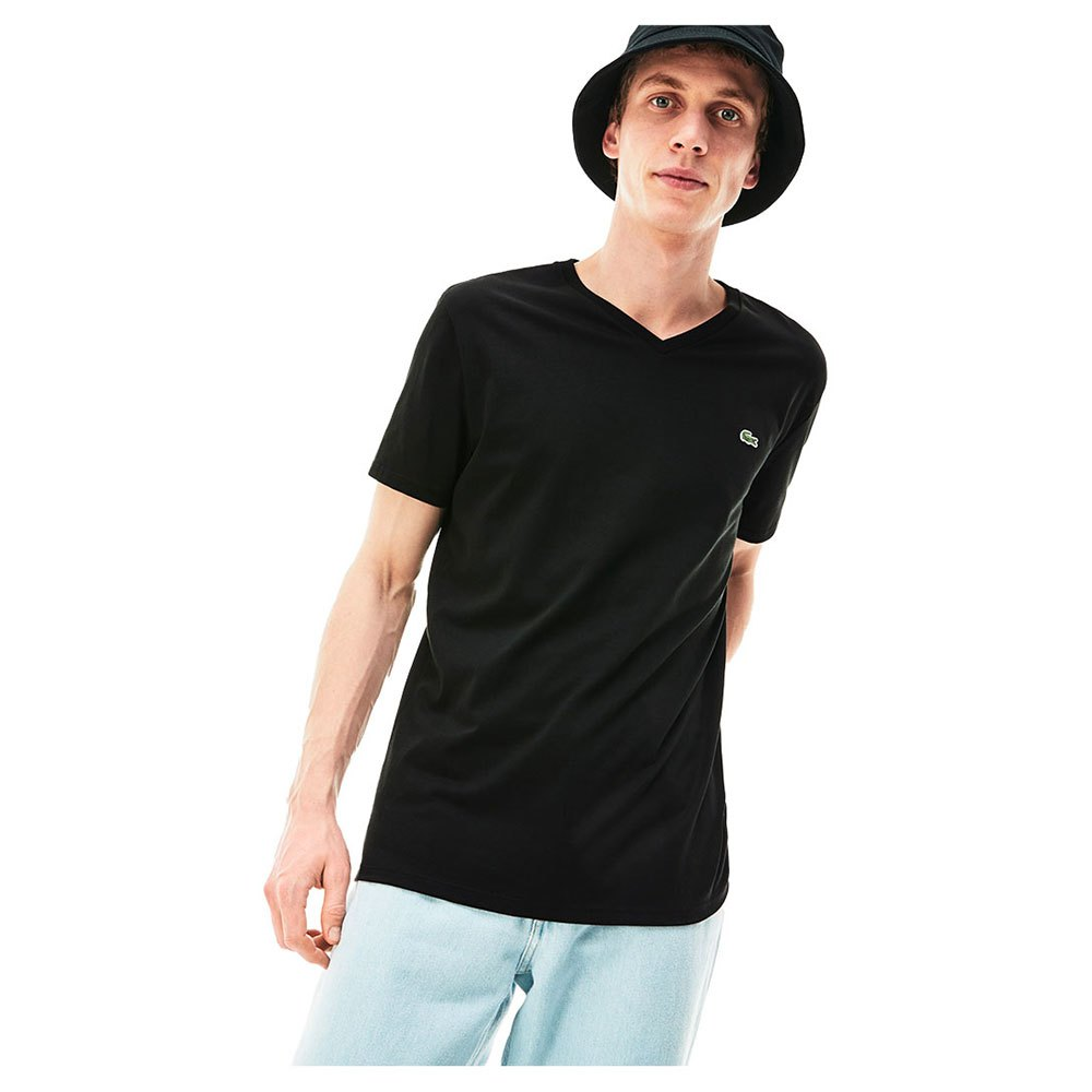 Lacoste V Neck Pima Cotton