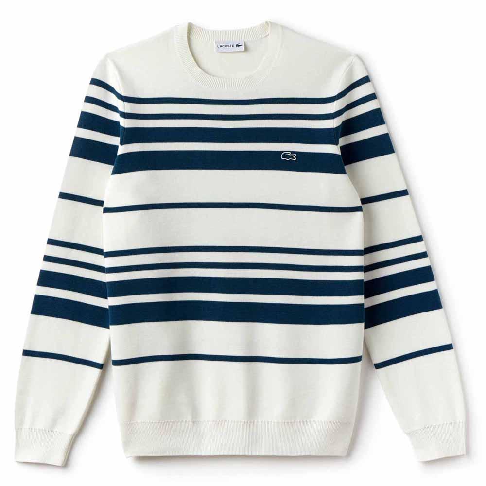 9026d0004 Lacoste Crew Neck Striped Milano Sweater Multicolor