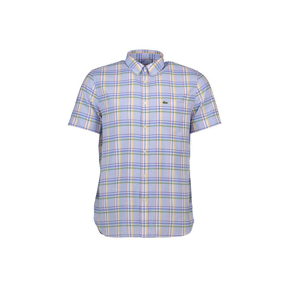 385ba1f8f9 Lacoste Slim Fit Colorful Checked Poplin Shirt , Dressinn