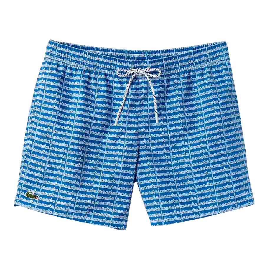 Maillots de bain Lacoste Short Cut Lettering Print Swimming Trunks