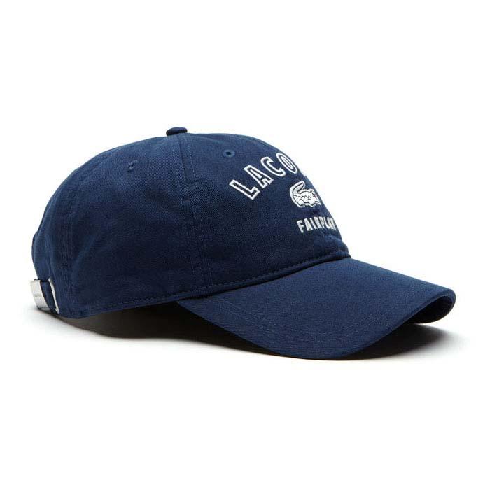 2be95c0bf63 Lacoste Fairplay Gabardine Cap Blue buy and offers on Dressinn
