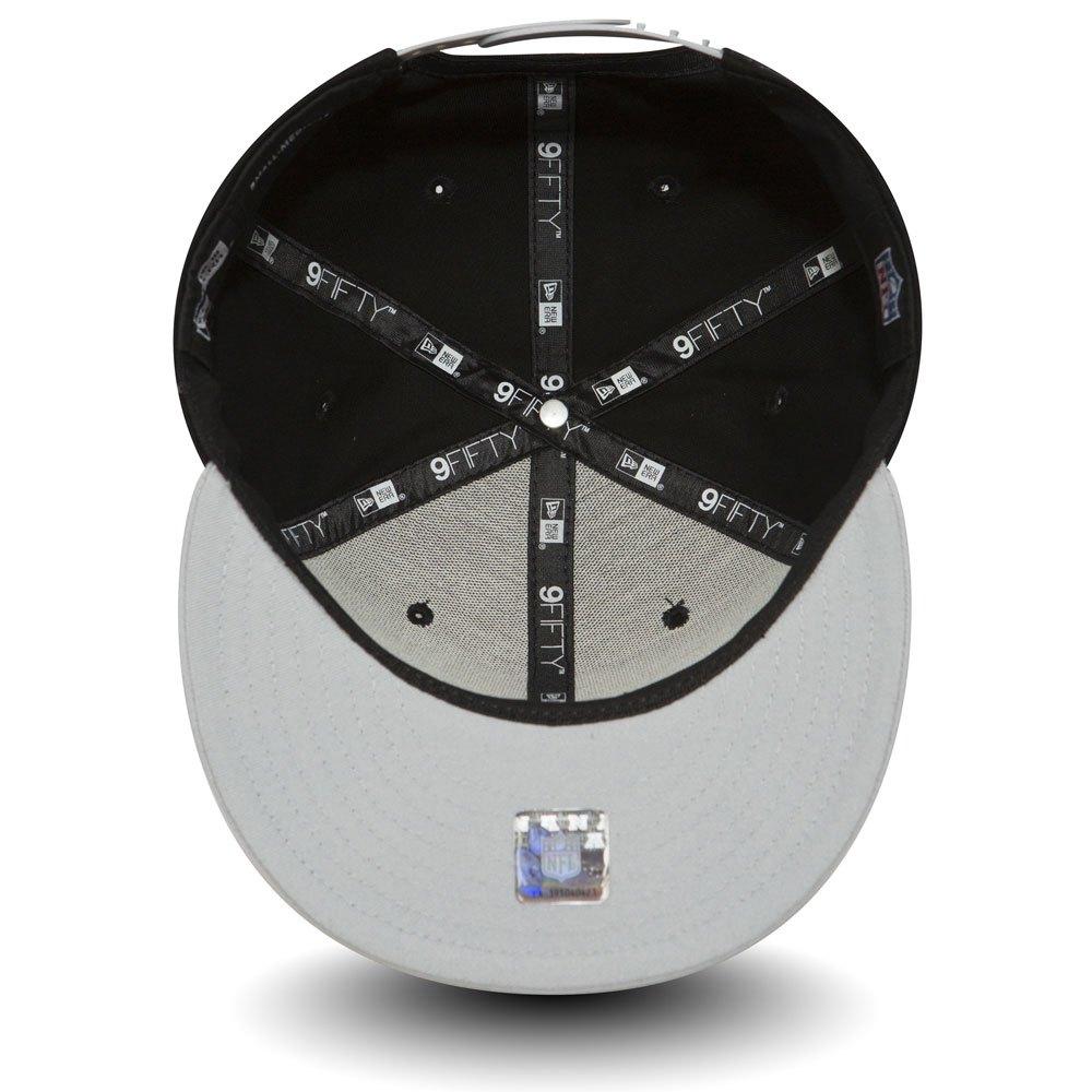 New Era Nubuck Blé Oakland Raiders Bouclier Marron Logo 9 Fifty Snapback Hat