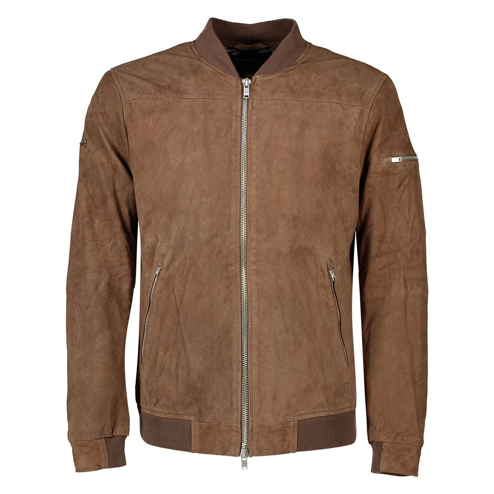 43ced64b1 Superdry Slim Suede Bomber Brown buy and offers on Dressinn