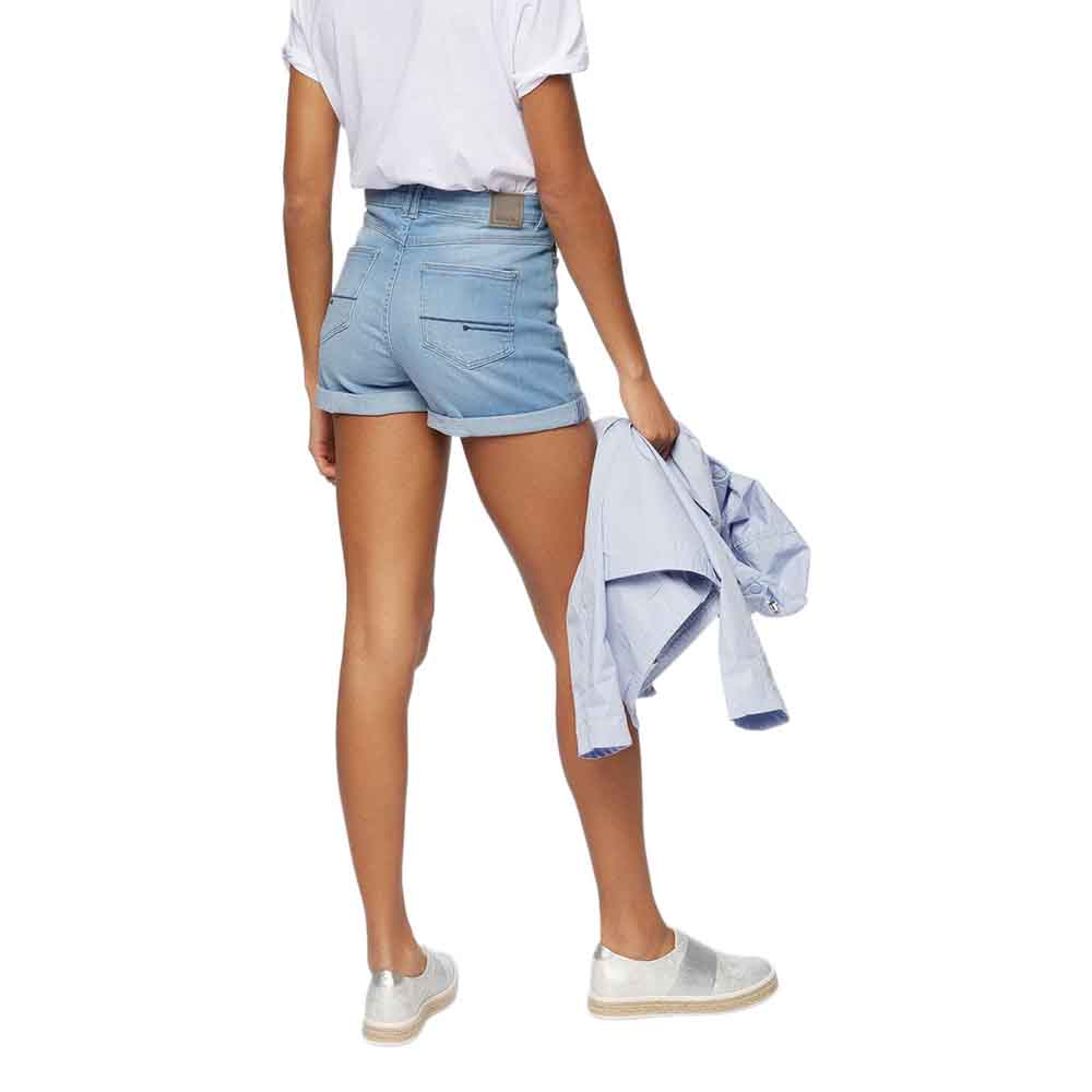 Womens High Waisted Pale Blue Shorts Bench viTsbi
