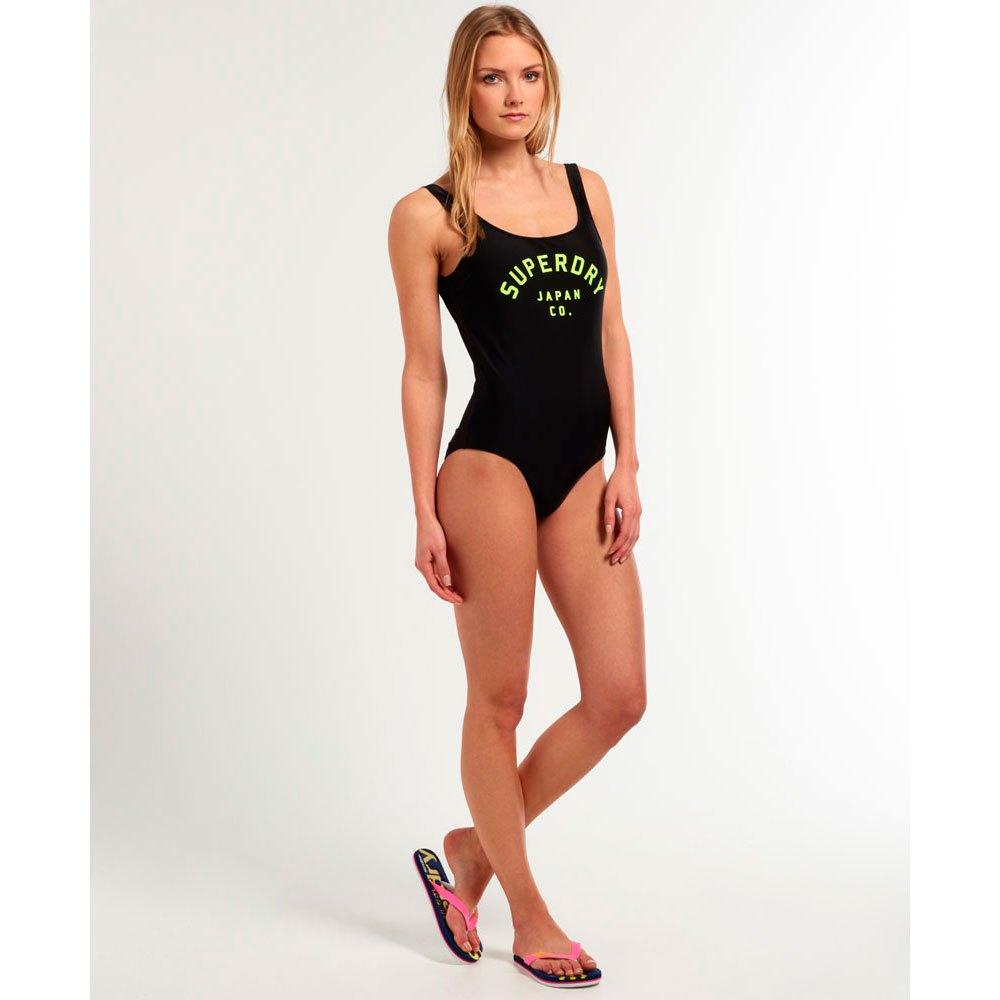 11aec4153aad3 Superdry Swimsuit Black buy and offers on Dressinn