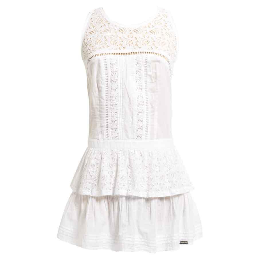 9759e267 Superdry Odessa Dress Hvit kjøp og tilbud, Dressinn Kjoler