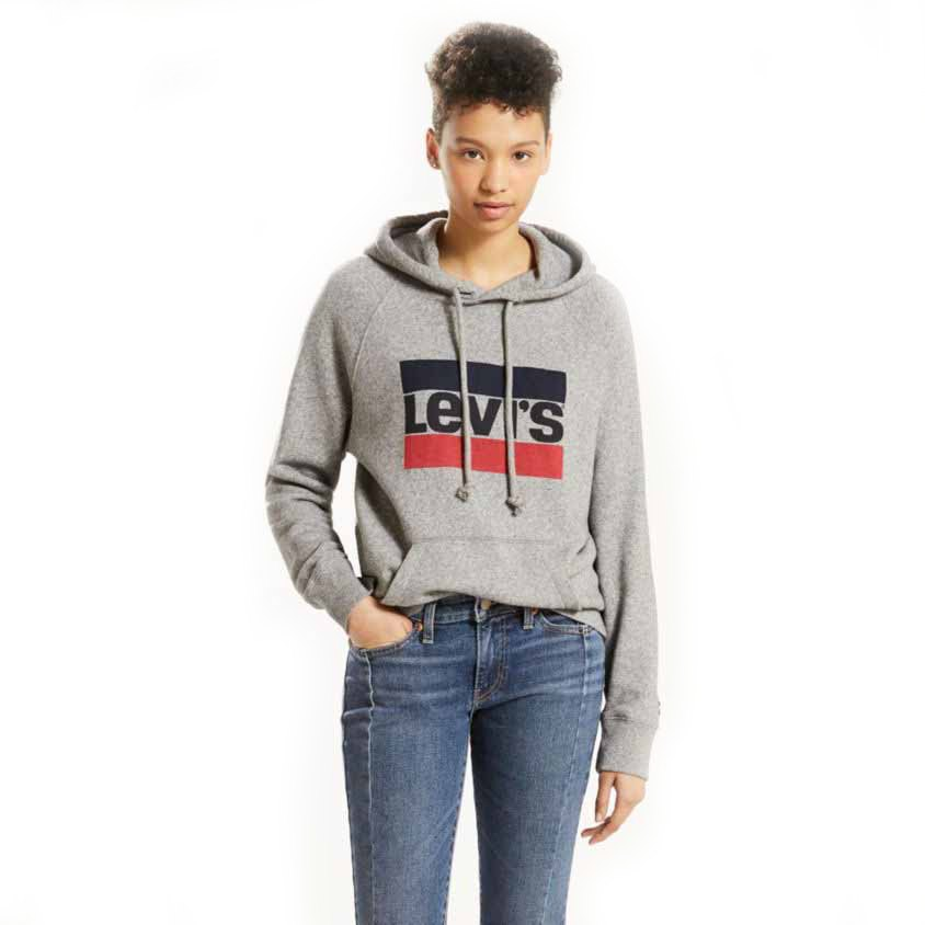 efacebd8bdf238 Levi´s ® Graphic Sport Hoodie Grey buy and offers on Dressinn