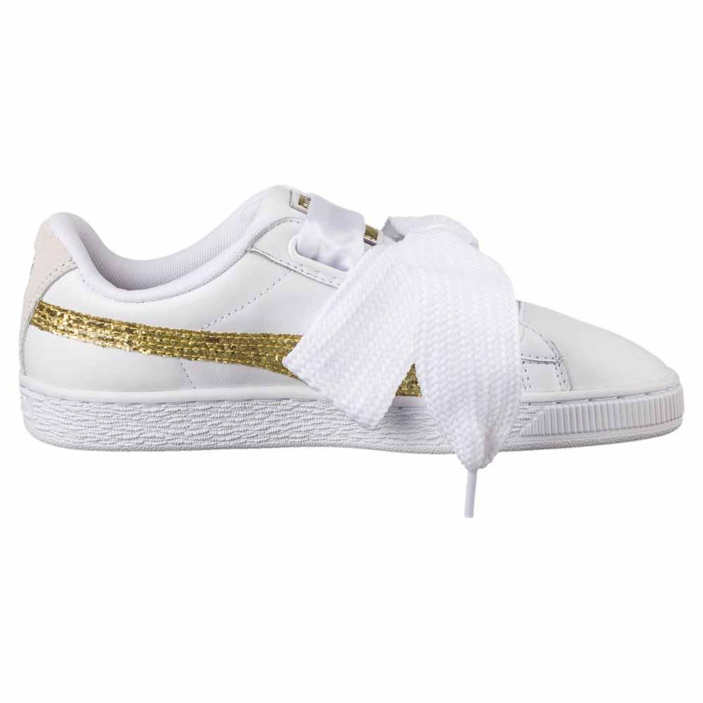 Puma select Basket Heart Glitter Dame Puma White Gold Sko