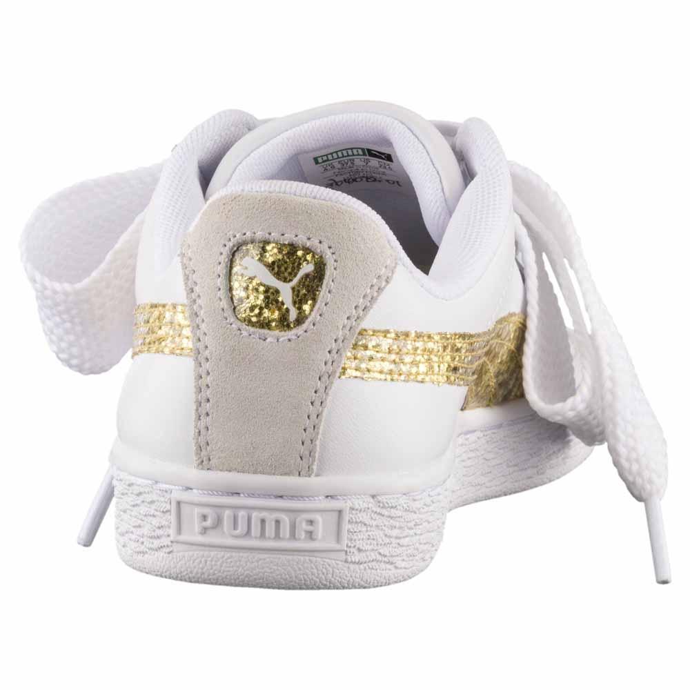020343713d4 Puma select Basket Heart Glitter White