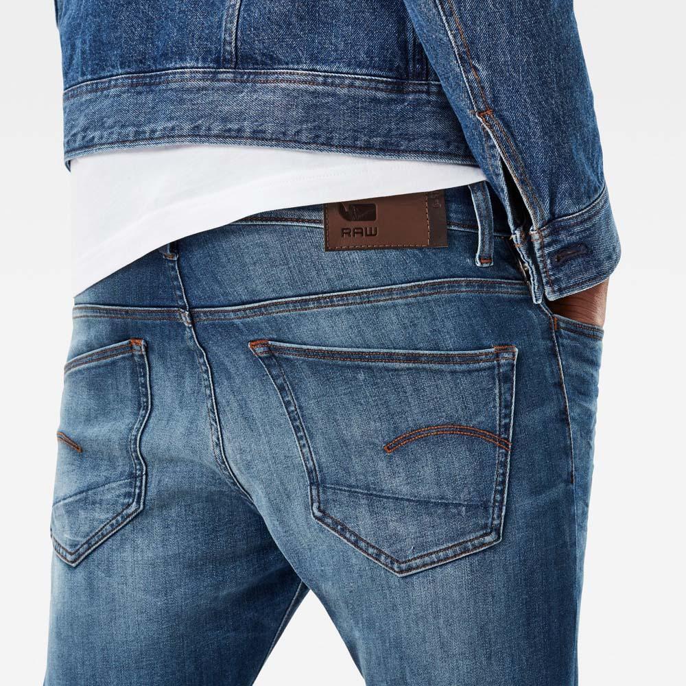 281f40bba64 Gstar 3301 Deconstructed Super Slim Colour Jeans L32 Bleu, Dressinn