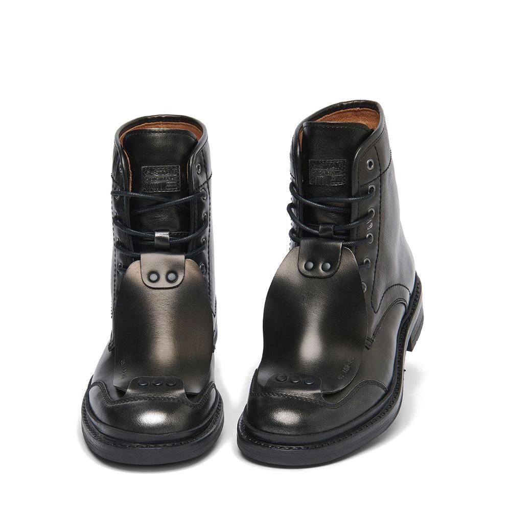Gstar Guard Boot Brushable Metallic Lth Noir, Dressinn