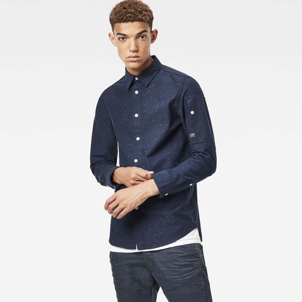 6fda9f5c0 Gstar Stalt Clean Long Shirt L S Light Wt Prem Denim Blue