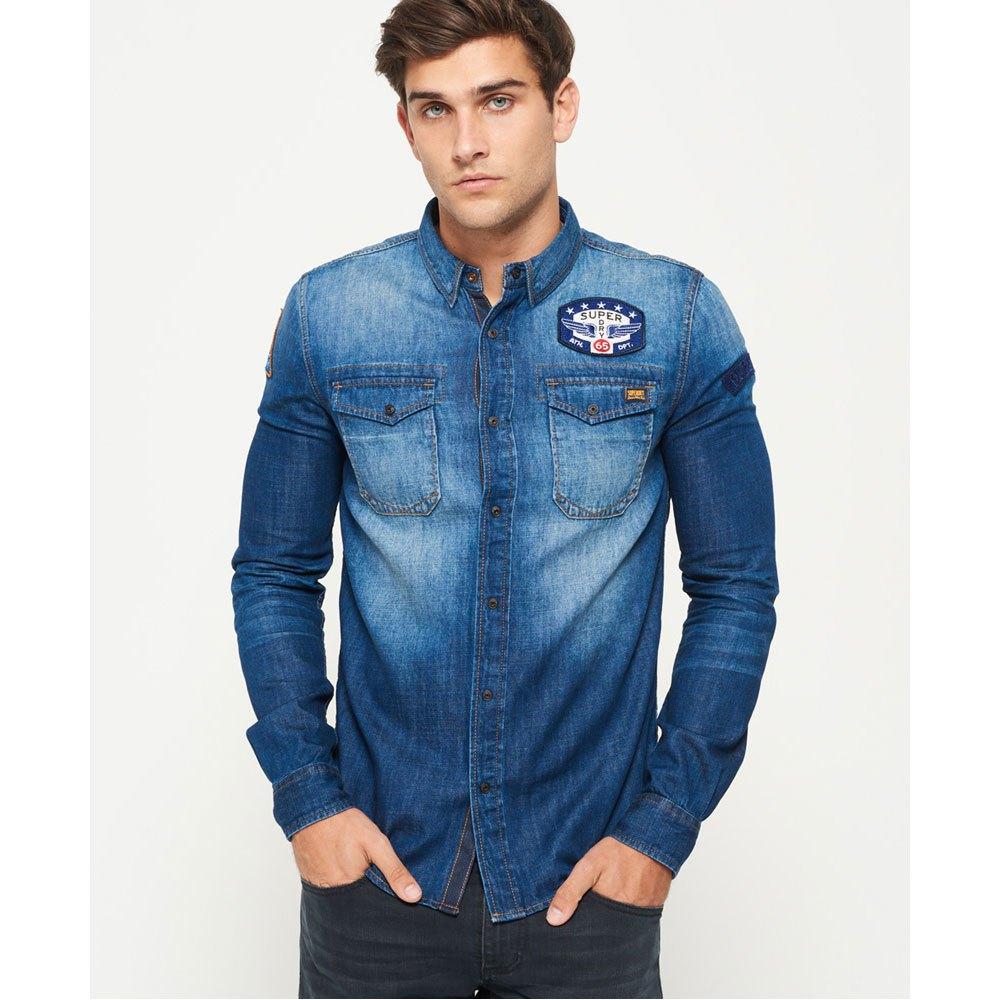 0ce7d3a5d0 ... Superdry Dragway Patch Denim L S Shirt ...