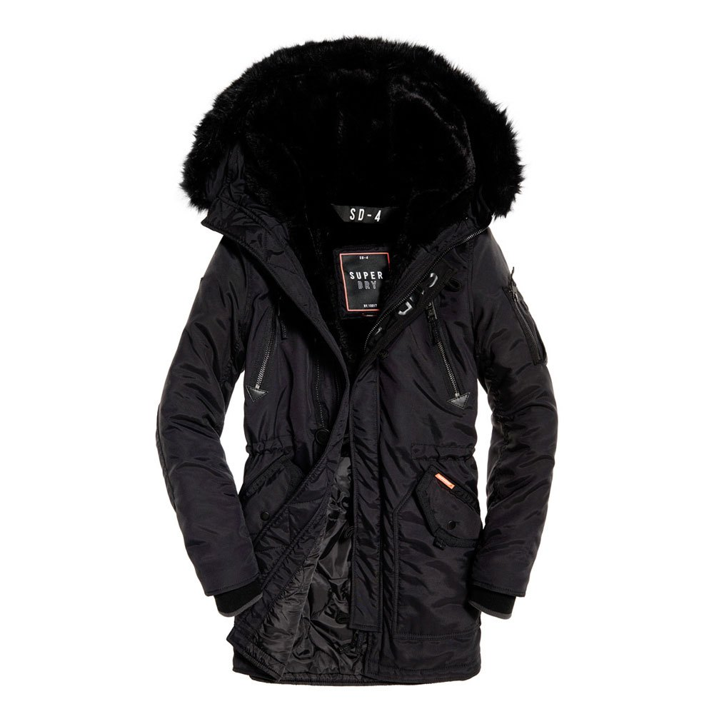 Superdry SD-4 Parka Black buy and offers on Dressinn b7f63ccdeb98