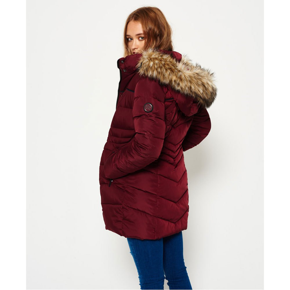 Superdry Glacier Parka Red buy and offers on Dressinn