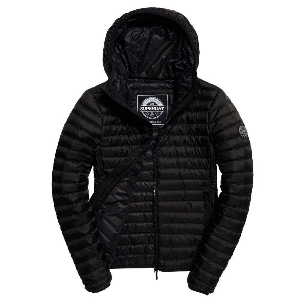 69fabdcb5db4 Superdry Core Down Hooded Black buy and offers on Dressinn