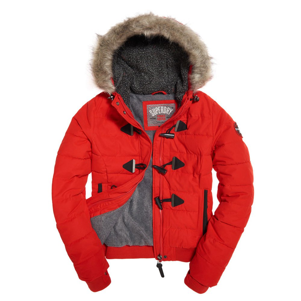 Superdry Microfbre Toggle Puffle Rouge, Dressinn