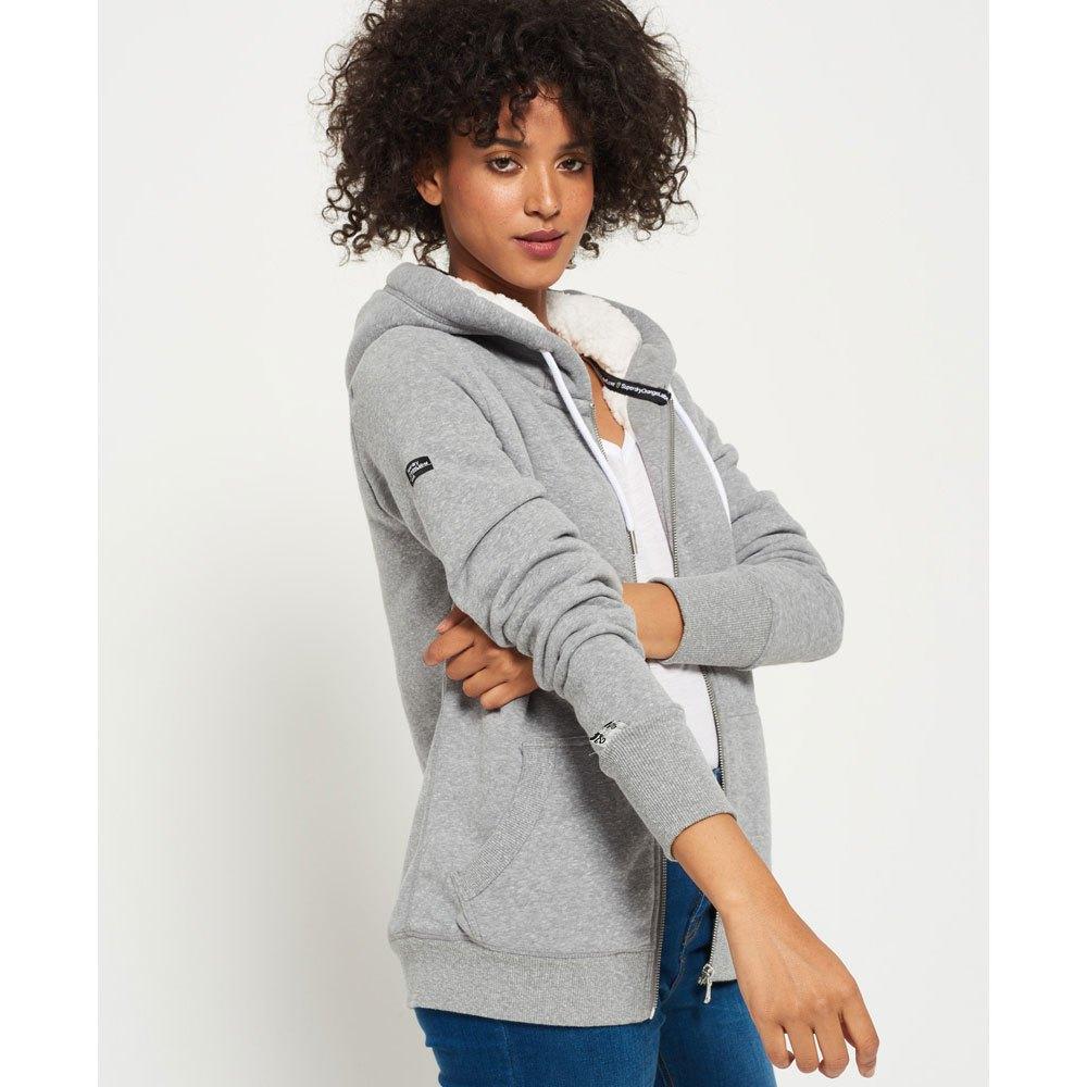 orange label sherpa luxe zip hoodie