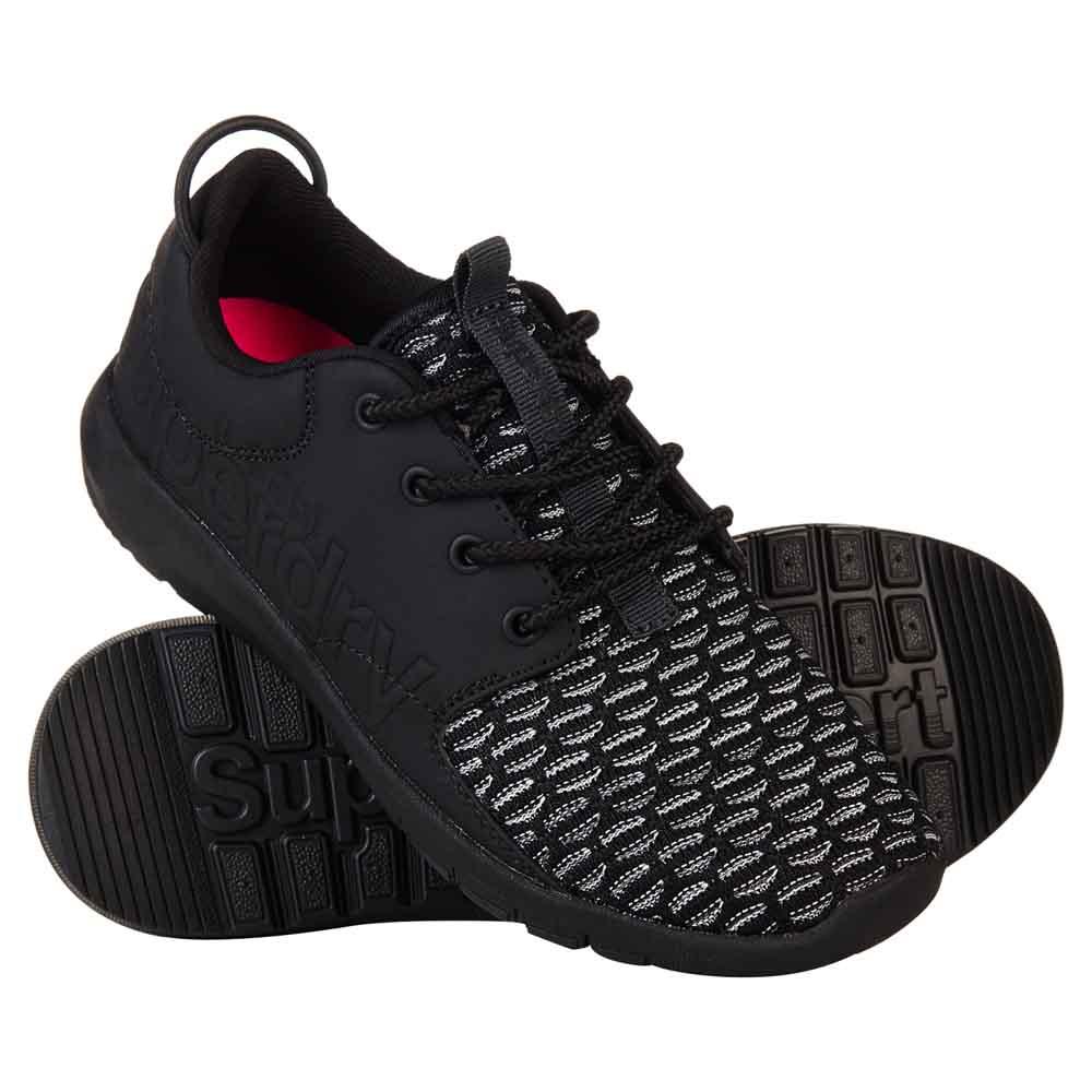 Sneakers Superdry Scuba Sport Runner EU 37 Black / Charcoal Weave