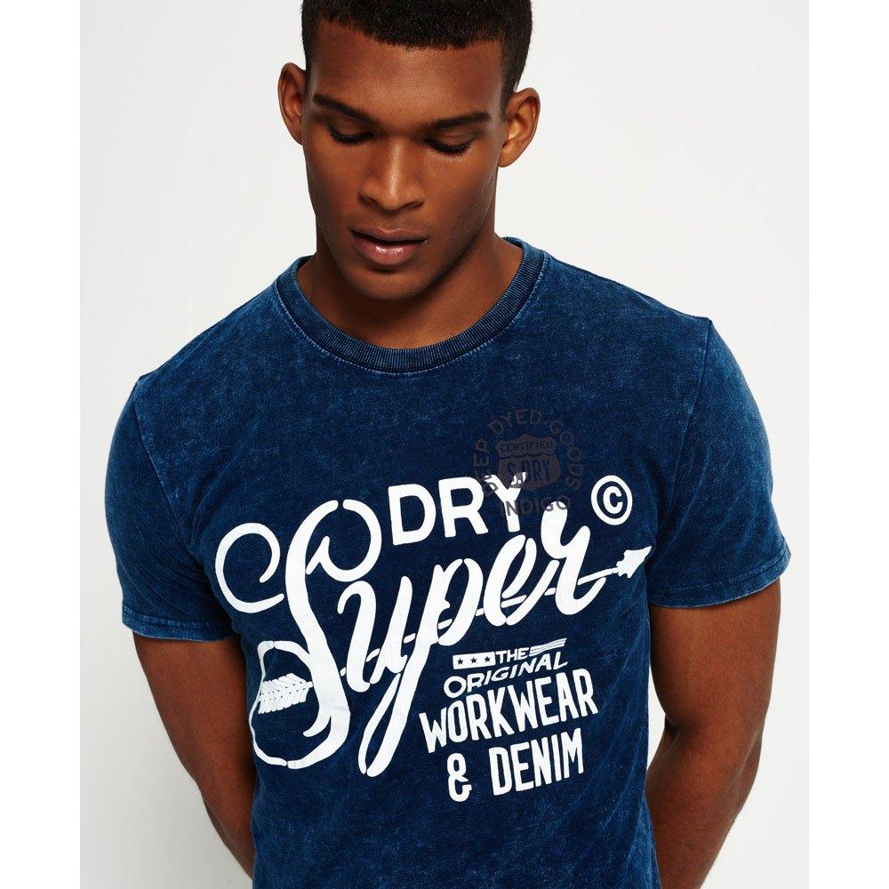 NEW Superdry SUPERDRY THE CRAFTSMAN INDIGO TEE