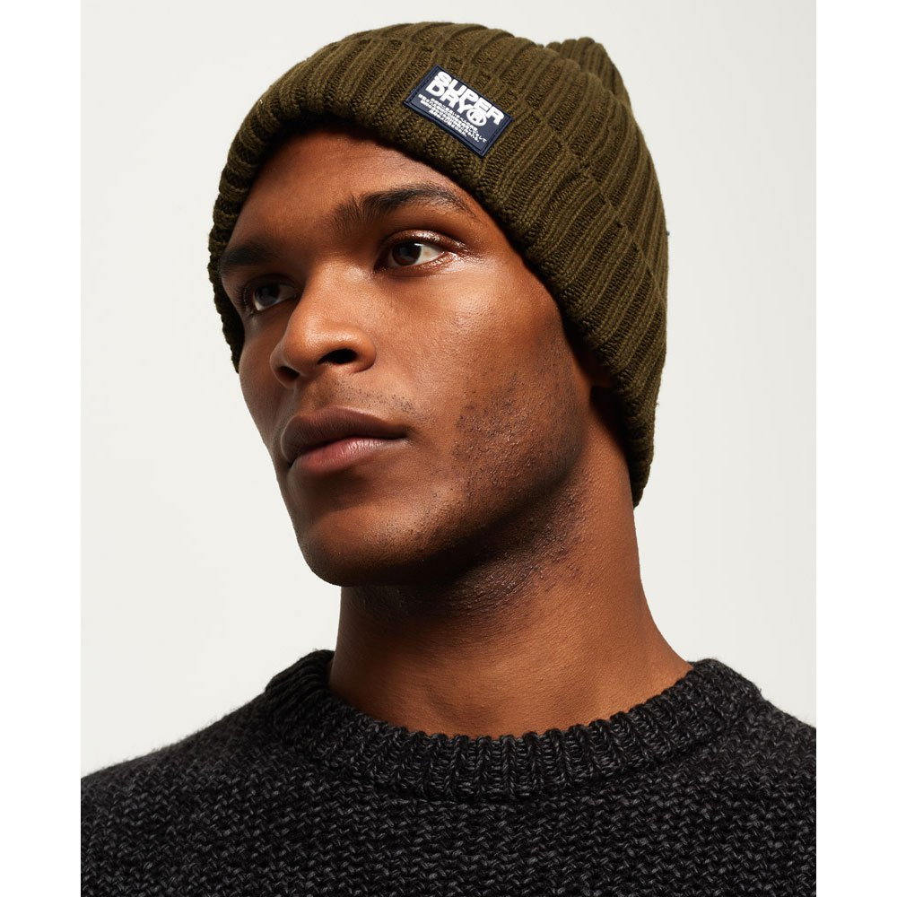 Homme Superdry Wiseman Beanie Taille 1 Taille
