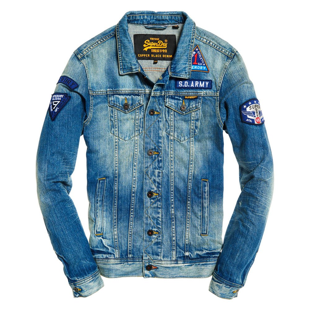 Superdry Veste Trucker en denim Rogue Patch Jeu Énorme Surprise 7WuFtof