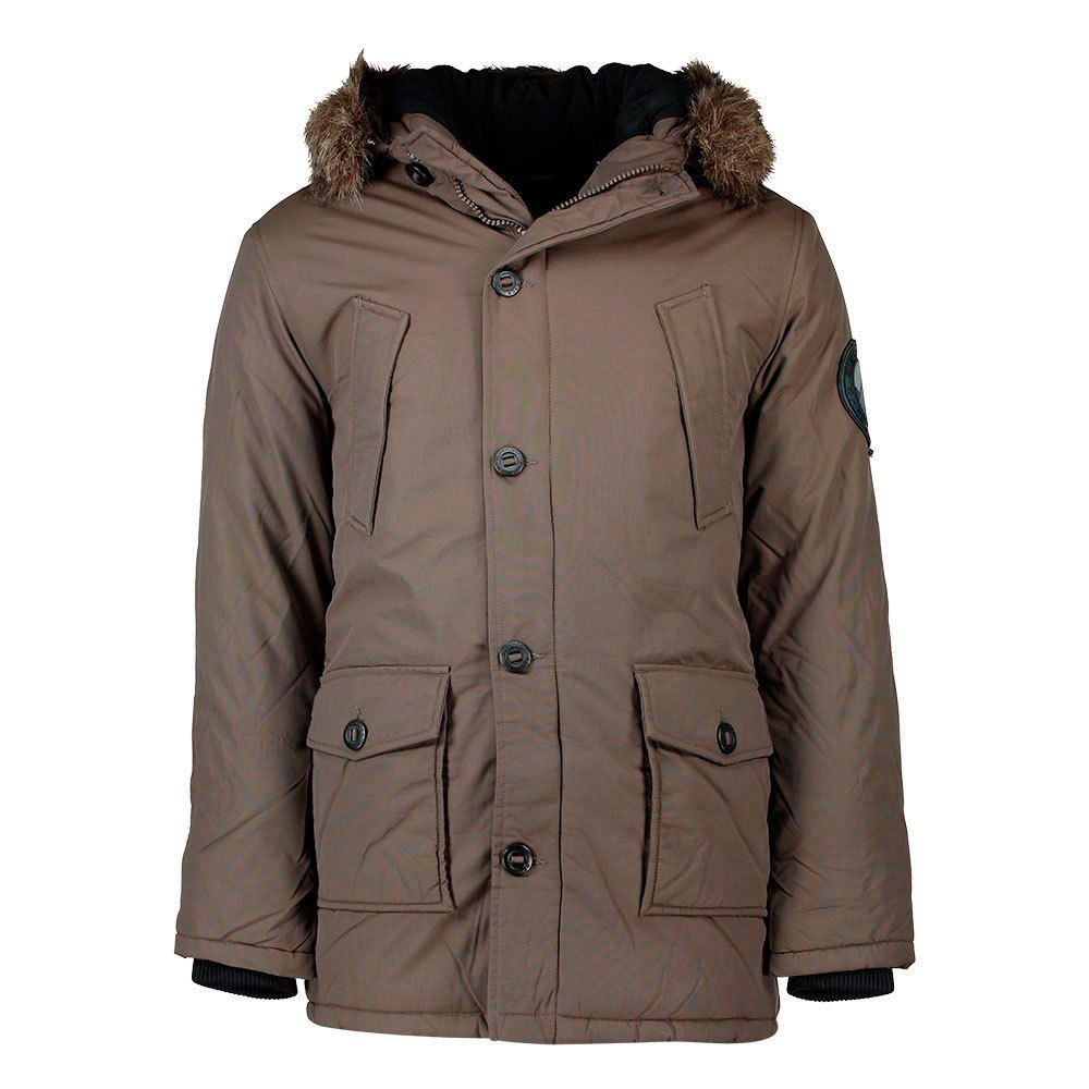 42fb6c855fa Superdry Fur Trimmed Everest Gris comprar y ofertas en Dressinn