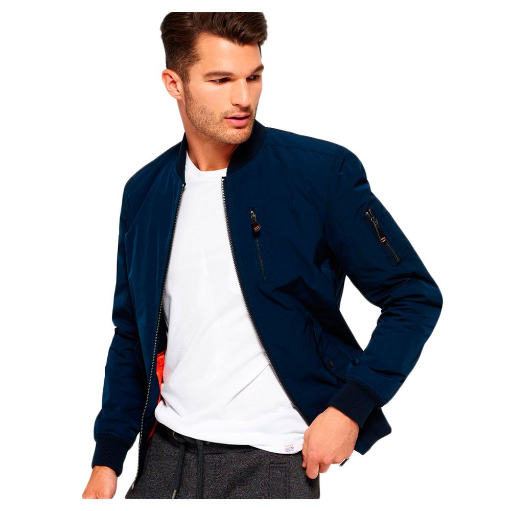 c17614ae1 Superdry Wax Flight Bomber Blue buy and offers on Dressinn