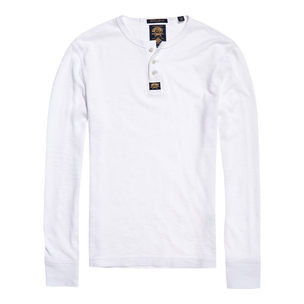 75eb7ce4 Superdry Heritage L/S Grandad White buy and offers on Dressinn