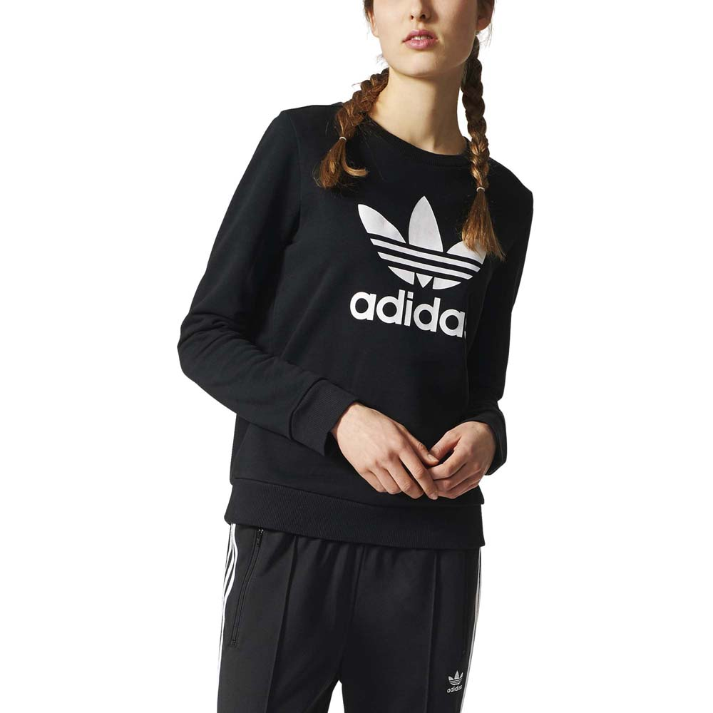 adidas originals Crew Sweater Black buy and offers on Dressinn fb21dfbe44a