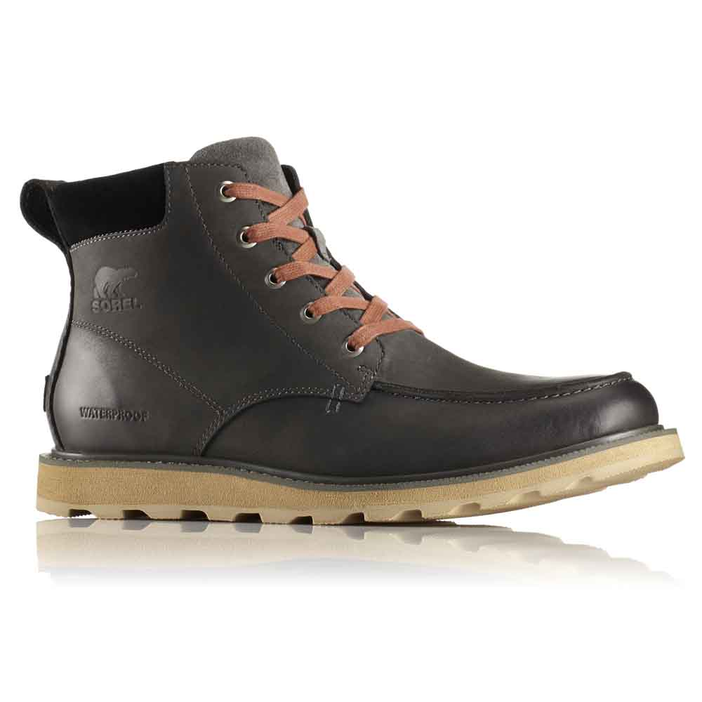 outlet for sale cheap for sale thoughts on Sorel Madson Moc Toe Waterproof Black buy and offers on Dressinn