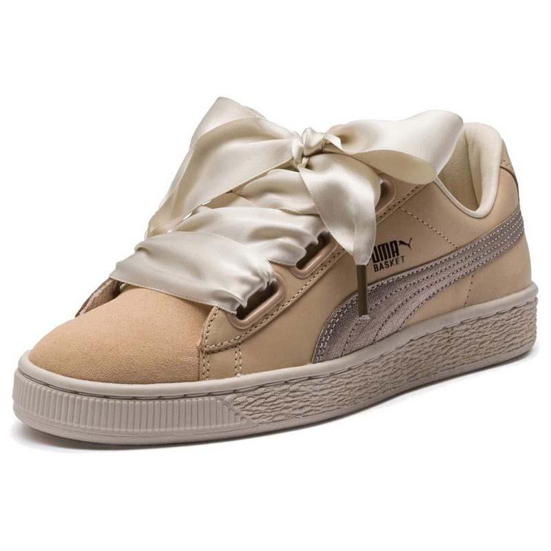 4ff6707c443 Puma Basket Heart Up Beige buy and offers on Dressinn