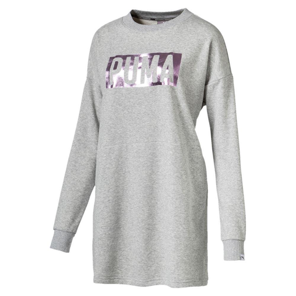 lenkkarit halpaa 100% huippulaatua suosittu tuotemerkki Puma Fusion Crew Sweat Grey buy and offers on Dressinn