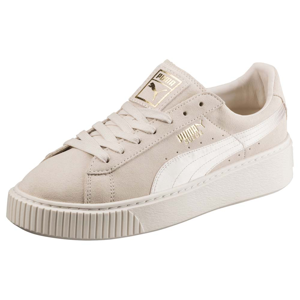 89d4fbacd0b Puma Suede Platform Mono Satin White buy and offers on Dressinn