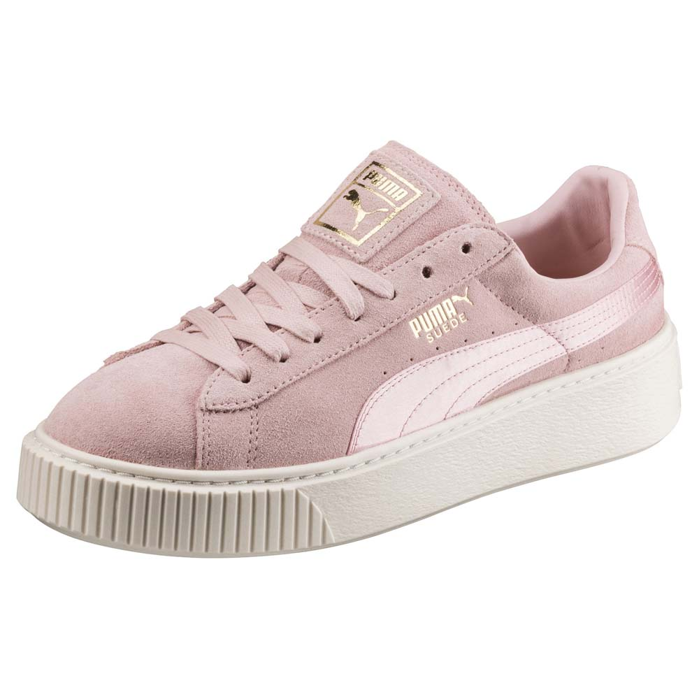 0b8223a76887 Puma Suede Platform Mono Satin Pink buy and offers on Dressinn
