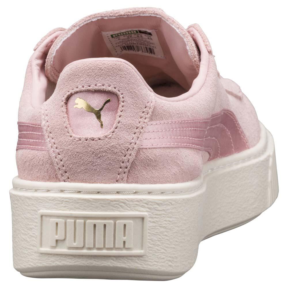 Puma Suede Platform Mono Satin Rosa køb og tilbud, Dressinn