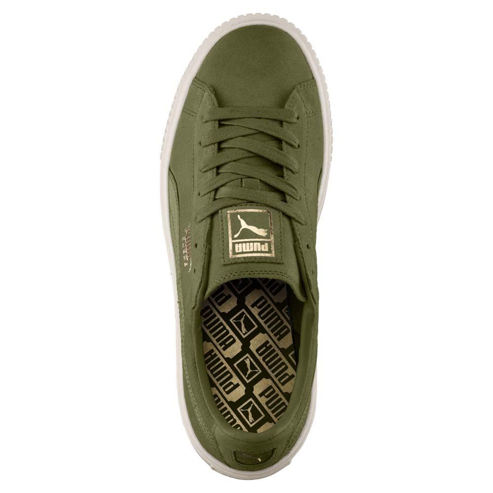 296528fb141b Puma Suede Platform Mono Satin Green buy and offers on Dressinn