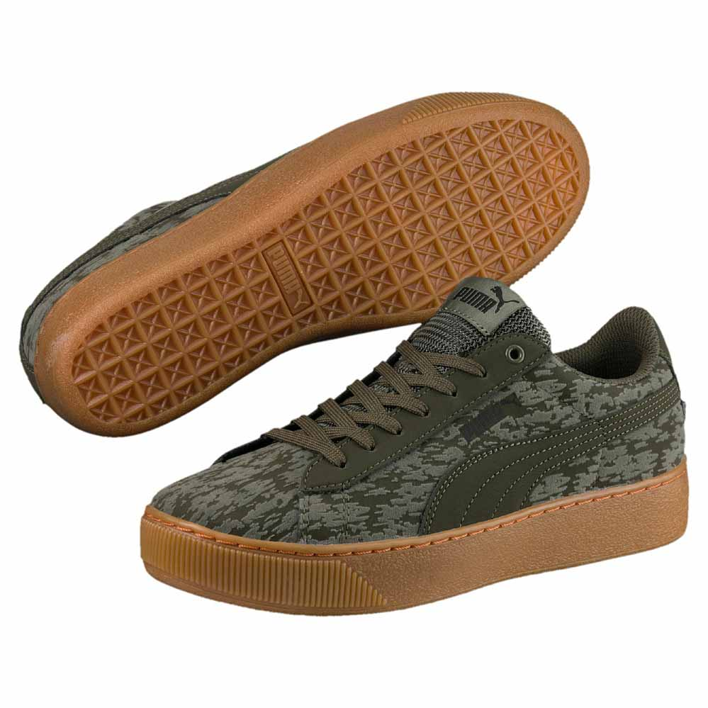 bca5f2dcbd3c Puma Vikky Platform VR Green buy and offers on Dressinn
