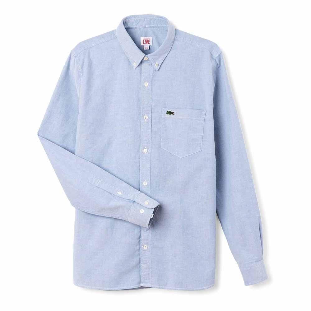 76a5ad17a LACOSTE LIVE! Shirt Niebieski kup i oferty, Dressinn Koszule